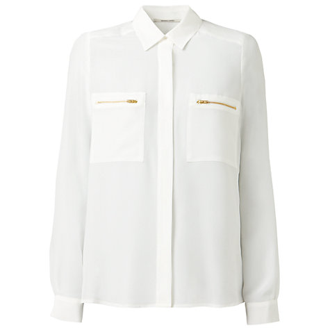 Buy Gérard Darel Silk Shirt, White Online at johnlewis.com