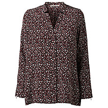 Buy Gérard Darel Geometric Print Blouse, Red Online at johnlewis.com