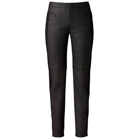 Buy Gérard Darel Faux Leather Trousers, Black Online at johnlewis.com
