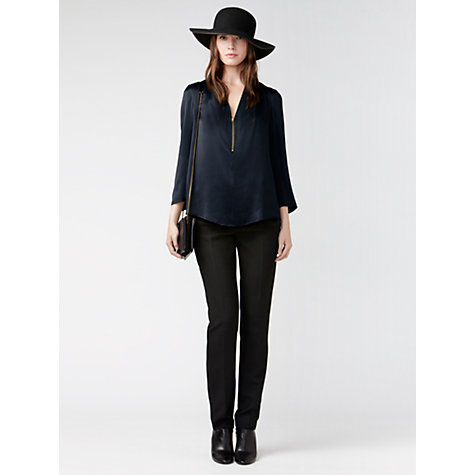 Buy Gérard Darel Straight Cut Trousers, Black Online at johnlewis.com