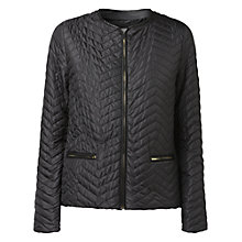Buy Gérard Darel Round Neck Jacket, Black Online at johnlewis.com