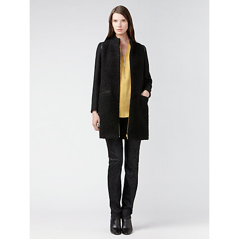 Buy Gérard Darel Alpaca Coat, Black Online at johnlewis.com