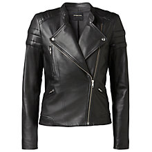 Buy Gérard Darel Leather Biker Jacket, Black Online at johnlewis.com