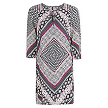Buy Mango Scarf Print Flowy Dress, Navy Online at johnlewis.com