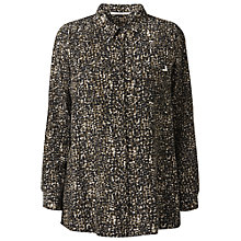 Buy Gérard Darel Khaki Print Blouse, Brown Online at johnlewis.com