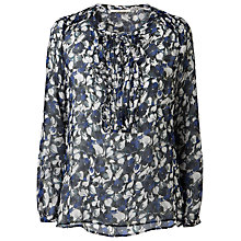 Buy Gérard Darel Flowered Blouse, Blue Online at johnlewis.com