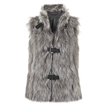 Buy Mint Velvet Faux Fur Gilet Online at johnlewis.com