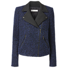 Buy Gérard Darel Zip Tweed Jacket, Blue/Black Online at johnlewis.com
