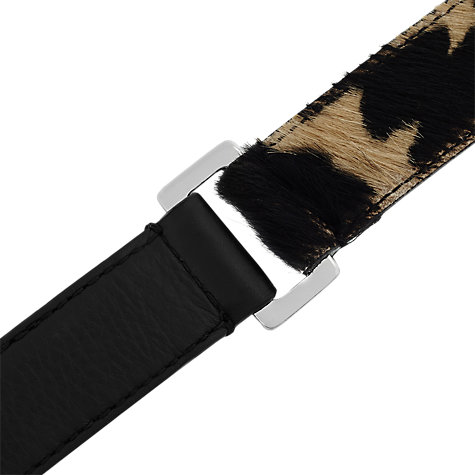 Buy Reiss Alexa Calf Hair Belt, Natural Online at johnlewis.com