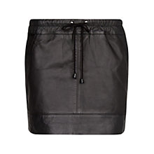Buy Mango Leather Miniskirt, Black Online at johnlewis.com