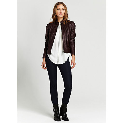 Buy Mint Velvet Luxe Leggings, Indigo Online at johnlewis.com