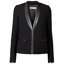 Buy Gérard Darel Leather Trim Jacket, Black Online at johnlewis.com