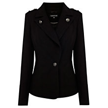Buy Warehouse Military Jacket, Black Online at johnlewis.com