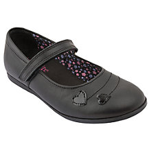 Buy Start-rite Saskia Leather Shoes, Black Online at johnlewis.com
