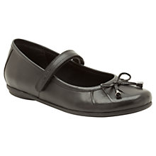 Buy Clarks Tash Abby Leather Shoes, Black Online at johnlewis.com