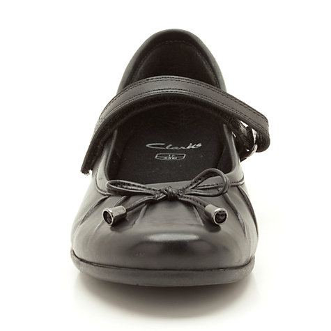 Buy Clarks Tasha Abby Leather Shoes, Black Online at johnlewis.com