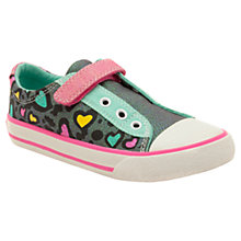 Buy Clarks Glitter Heart Canvas Trainers Online at johnlewis.com