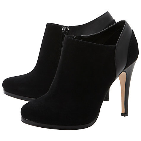 Buy Dune Adorn Suede Shoe Boots, Black Online at johnlewis.com