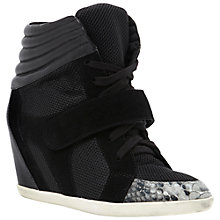 Buy Dune Lennox High-Top Trainers, Black Online at johnlewis.com