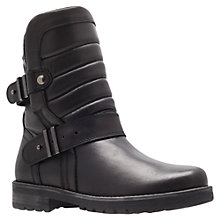 Buy Kurt Geiger Abingdon Leather Biker Boots Online at johnlewis.com
