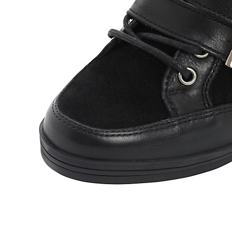 Buy Dune Lang High-Top Wedged Trainers, Black Online at johnlewis.com