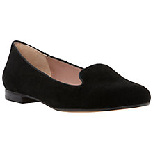 Buy Dune Limbo Suede Slipper Shoes, Black Online at johnlewis.com