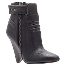 Buy Kurt Geiger Albany Leather Ankle Boots, Black Online at johnlewis.com
