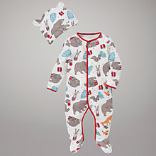 Buy John Lewis Baby The Bear & The Hare Sleepsuit Online at johnlewis.com