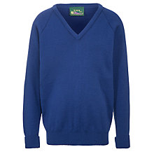 Buy Goffs School Unisex V-Neck Jumper, Blue Online at johnlewis.com