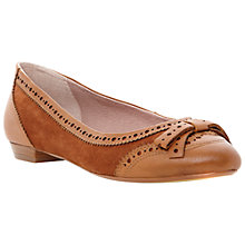 Buy Dune Malian Brogue Detail Ballerina Pumps Online at johnlewis.com