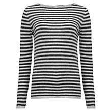 Buy Jigsaw Baby Alpaca Striped Sweater, Grey Online at johnlewis.com