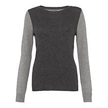 Buy Jigsaw Cashmere Colour Block Jumper Online at johnlewis.com