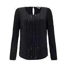 Buy Jigsaw Embroidered Pleat Top Online at johnlewis.com