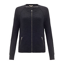 Buy Jigsaw Bomber Jacket, Charcoal Online at johnlewis.com