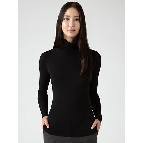 Buy Jigsaw Silk Cotton Polo Neck Sweatshirt Online at johnlewis.com