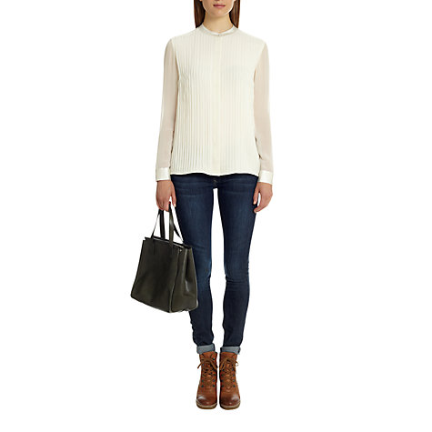 Buy Jigsaw Silk Pleat Front Blouse Online at johnlewis.com