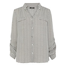 Buy Oasis Mono Flash Print Shirt, Multi Online at johnlewis.com