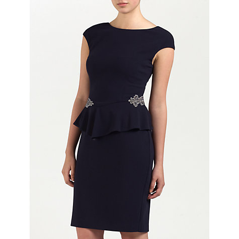 Buy Ariella Madison Crepe Dress, Navy Online at johnlewis.com