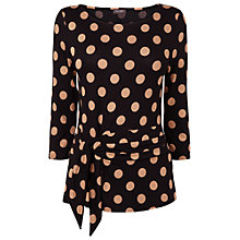 Buy Phase Eight Philly Spot Top, Black/Camel Online at johnlewis.com