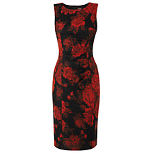 Buy Phase Eight Una Dress, Black/Scarlet Online at johnlewis.com