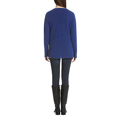 Buy Jigsaw Cashmere Boyfriend Cardigan, Blue Online at johnlewis.com