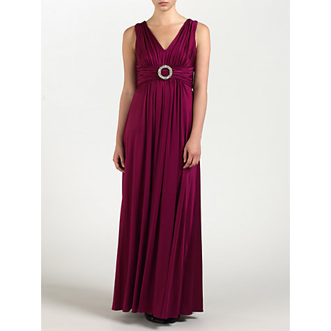 Buy Ariella Caroline Full Length Dress, Wine Online at johnlewis.com