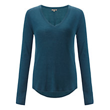 Buy Jigsaw Luxury Blend Jumper, Teal Online at johnlewis.com