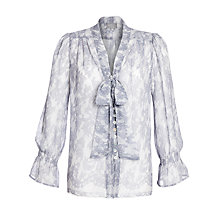 Buy Ghost Faith Neck Tie Blouse, Sandy Lace Online at johnlewis.com