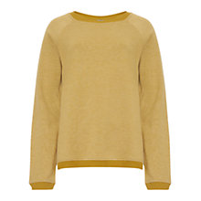 Buy Jigsaw Washed Sweater, Mustard Online at johnlewis.com