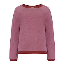 Buy Jigsaw Washed Loopback Sweater, Burgundy Online at johnlewis.com