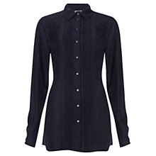 Buy Jigsaw Pintuck Shirt, Blue Online at johnlewis.com