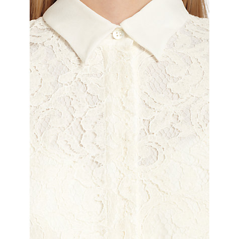 Buy Jigsaw Lace Shirt, Ivory Online at johnlewis.com