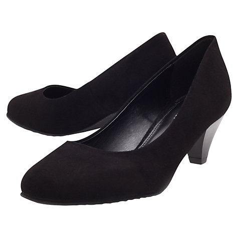 Buy Carvela Amount Court Shoes, Black Suede Online at johnlewis.com