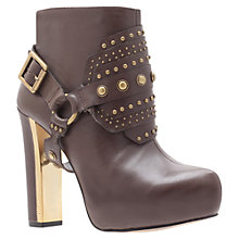 Buy Carvela Slim Ankle Boots, Khaki Online at johnlewis.com
